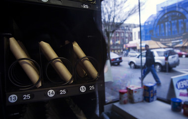 A vending machine that dispenses crack pipes for 25 cents each is pictured at the Washington Store in Vancouver's DTES neighbourhood