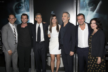 Cast and Warner executives arrive for the New York premiere of 'GRAVITY'