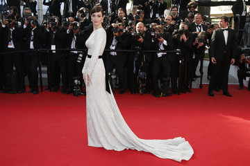 Actress Paz Vega poses on the red carpet as she arrives at the closing ceremony of the 67th Cannes Film Festival in Cannes