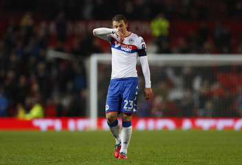 Wigan Athletic's Stephen Warnock looks dejected after the game