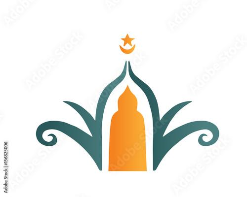 modern islamic mosque logo beautiful elegant floral shape mosque rh fotolia com islamic logo creator islamic logo creator