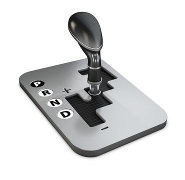 Vehicle gear stick: automatic transmission. 3d Illustration