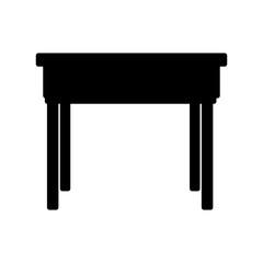 school desk wooden table. office furniture vector illustration