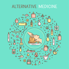 Vector illustration - Alternative medicine