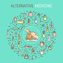 Vector illustration - Alternative medicine