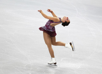 Weinzierl of Germany performs during her women's short programme at the European Figure Skating Championships in Sheffield