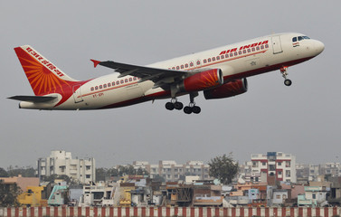 An Air India Airbus A320 passenger plane takes off from Sardar Vallabhbhai Patel International Airport in Ahmedabad