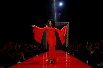 Actor Lorraine Toussaint takes part in the American Heart Association's Go Red For Women Red Dress Fall/Winter show during New York Fashion Week in the Manhattan borough of New York