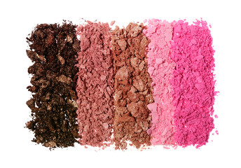 Crushed colored shiny eyeshadow as sample of cosmetic product