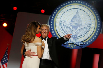 Trump attends the Freedom Ball in honor of his inauguration in Washington