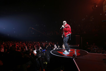 Puerto Rican reggaeton singer-songwriter Daddy Yankee performs during the first-ever iHeartRadio Fiesta Latina at The Forum in Inglewood, California