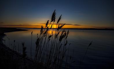 The beautiful sunset. Shot in Denmark