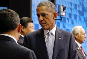 Humala, Xi, Obama and Razak arrive to participate in the APEC Summit retreat session on regional economic integration in Manila