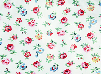 Rose design Seamless pattern on fabric as background