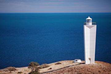 Foto auf AluDibond Leuchtturm Cape Jervis lighthouse against sea background. South Australia.