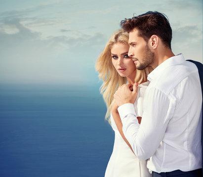 Elegant, attractive couple enjoying their vacation