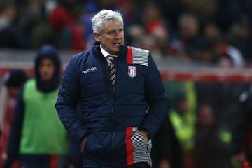 Stoke City manager Mark Hughes at full time