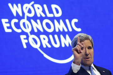 U.S. Secretary of State Kerry attends the annual meeting of the World Economic Forum (WEF) in Davos