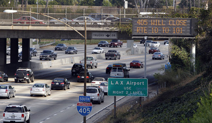 Message signs have been activated and placed around Los Angeles County in preparation for the 405 closure during road construction this weekend in Los Angeles