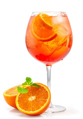 Acrylic Prints Cocktail glass of aperol spritz cocktail
