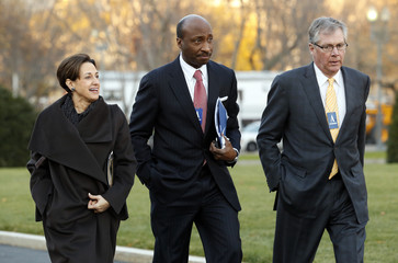 Business leaders arrive at the White House in Washington