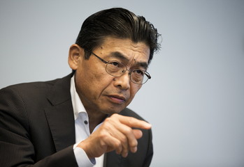 Head of Sony's device solutions business Suzuki talks during interview at the company's headquarters in Tokyo