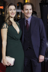 """Abigail Carpenter and actor James Herbert arrive at Warner Bros. Pictures' """"Gangster Squad"""" premiere at Grauman's Chinese Theatre in Hollywood, California"""