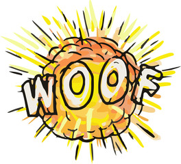 Explosion Woof Cartoon