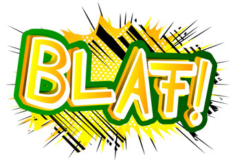 Blaf! - Vector illustrated comic book style expression.