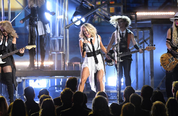 Carrie Underwood performs during the 50th Annual Country Music Association Awards in Nashville