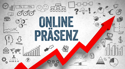 Online Präsenz / Wall / Symbols / Arrow