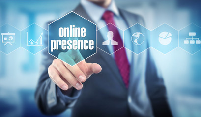 online presence / Businessman