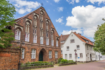 Fototapete - Historic church building Probstei in the center of Uelzen