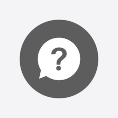 Question mark sign icon. Help symbol. FAQ sign. Flat design style.