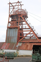Headframe at Blaenavon coal mine