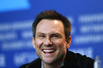 "Cast member Slater smiles during a press conference to promote the movie ""Nymphomaniac Volume I"" during the 64th Berlinale International Film Festival in Berlin"