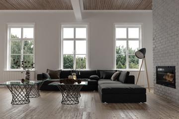 Comfortable corner in a modern living room