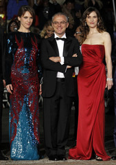 """Director Luchetti and cast members arrive for screening of  """"La Nostra Vita"""" at the 63rd Cannes Film Festival"""