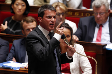 French Prime Minister Valls attends the questions to the government session at the National Assembly in Paris