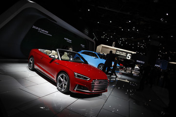 A 2018 Audi S5 Cabriolet is displayed during the North American International Auto Show in Detroit