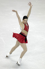 Kaetlyn Osmond of Canada performs during the ladies free skating at the ISU World Figure Skating Championships in London, Ontario