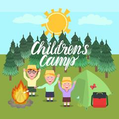 Children's Camp illustration