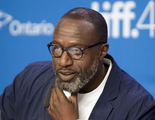 Director George Amponsah attends a news conference to promote the film The Hard Stop at the Toronto International Film Festival