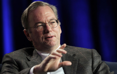 Google CEO Eric Schmidt gestures during the Web 2.0 Summit in San Francisco