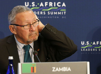 File picture of Zambia's Vice President Guy Scott at the U.S.-Africa Leaders Summit in Washington
