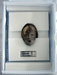The mummified head of a fetus from the Chinchorro tribe lies in a special box inside Azapa's San Miguel Museum in Arica city
