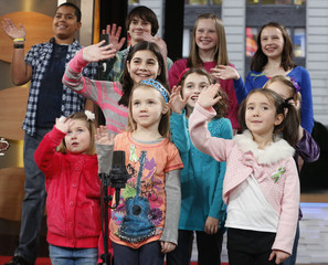 "Students from Newtown, Connecticut appear on ABC's Good Morning America to perform ""Over the Rainbow"" in New York"