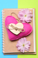 Notebook and heart