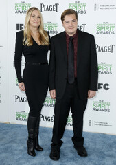 Gandolfini and Wudarski arrive at the 2014 Film Independent Spirit Awards in Santa Monica