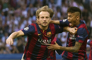 SOC: Ivan Rakitic celebrates first goal for Barcelona